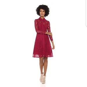 NANETTE LEPORE Pomegranate Moody Treasures Dress